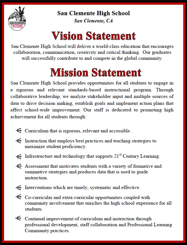 School Mission   Vision Statement